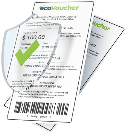 Pay online securely with ecoVoucher